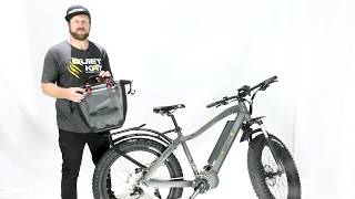 How to attach the pannier rack to your QuietKat