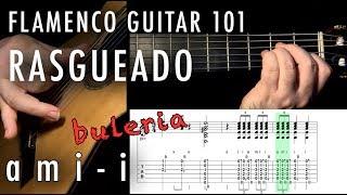 Flamenco Guitar 101 - 35 - Rasgueado -Three-finger -  ami - i