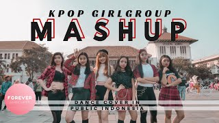 GIRL GROUP MASHUP DANCE COVER IN PUBLIC INDONESIA