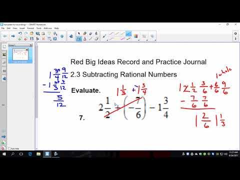 Big 7 2 3 Subtracting Rational Numbers