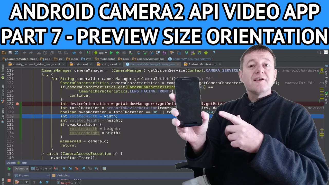 Android Camera2 API Video App - Part 7 Adjusting orientation for  calculating preview size