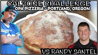 Repeat youtube video 4 LB Calzone Challenge With Randy Santel
