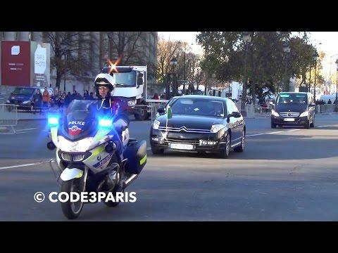 Police Motorcycle Escort President of Benin