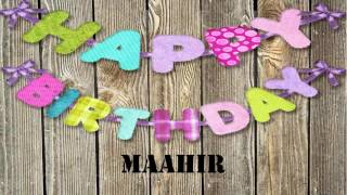 Maahir Birthday    Wishes