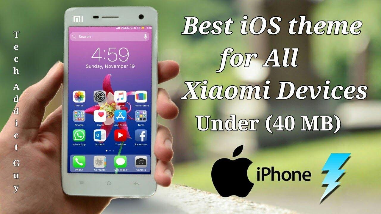 iOS BoSe 11 3x (MIUI 8) & iOS 11 6x (MIUI 9) || Best iOS look ever || Miui  theme under 40 MB
