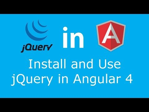 How to Import and Use jQuery in Angular 4