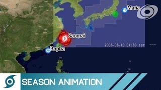 2006 Pacific Typhoon Season Animation