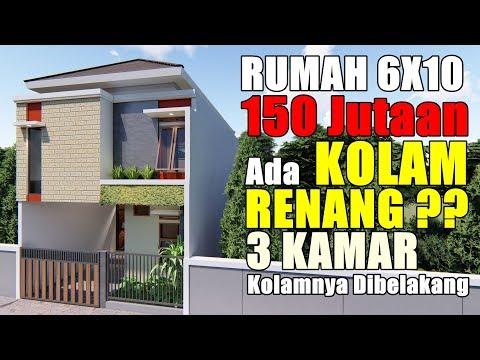 Desain Rumah 6x10 Ada Kolam Renangnya 3 Kamar Tidur Youtube