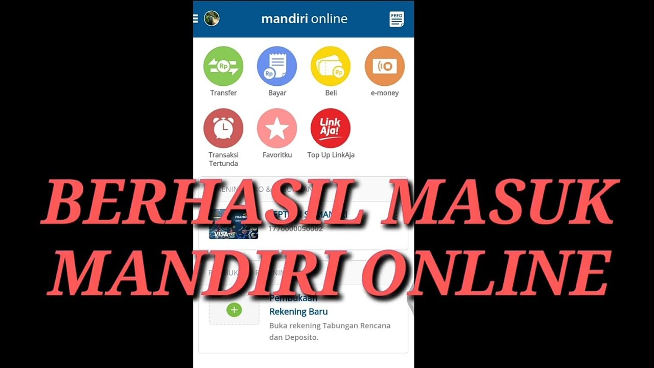 Login Mandiri Online Mandiri Mobile Youtube