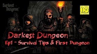 Darkest Dungeon Ep1 First Dungeon Gameplay & Survival Tips