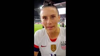 USWNT vs Belgium - IG Stories + fans' videos 04/07/19