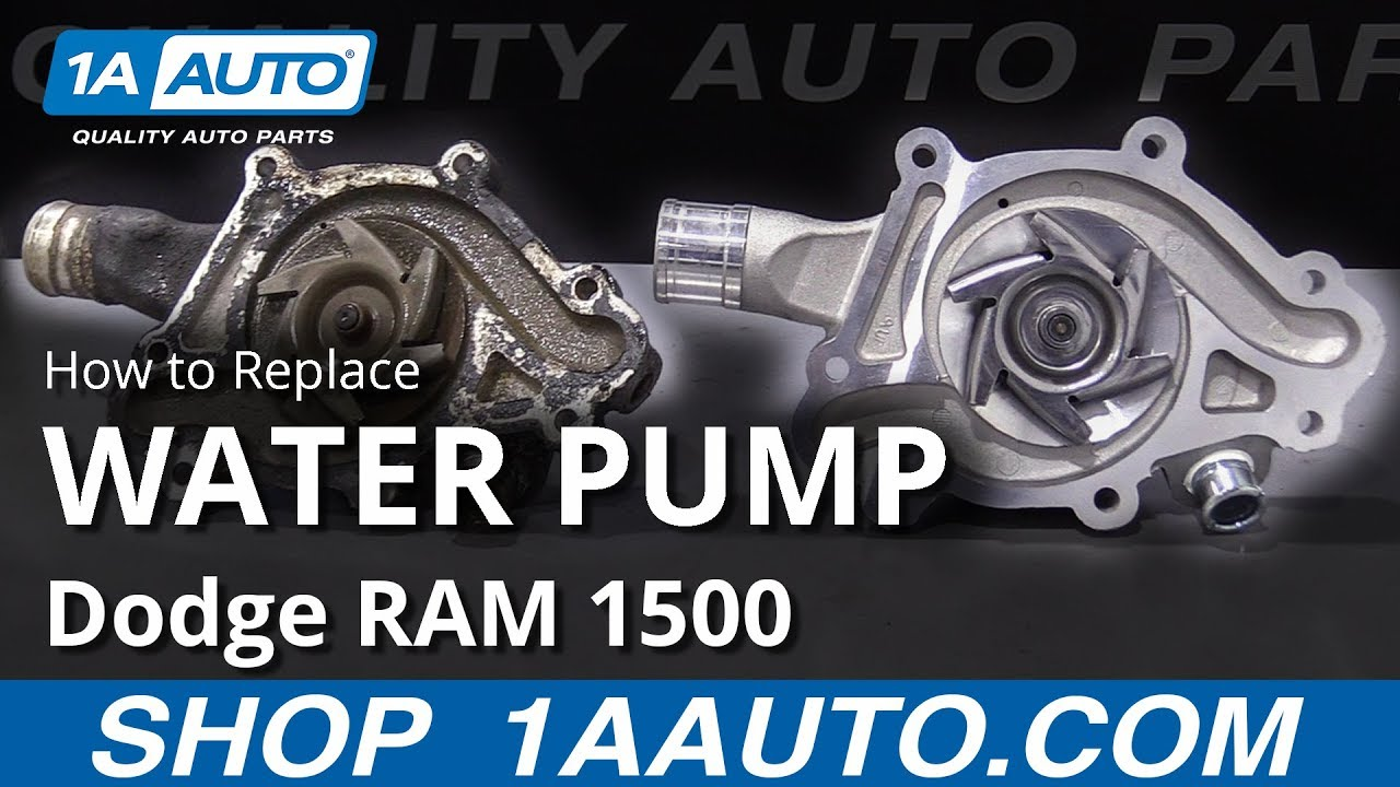 How To Replace Water Pump 94 02 Dodge Ram 1500 Youtube