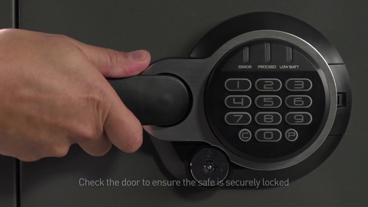 How To Open A Sentry 174 Safe Electonic Lock And Dual Key Fire