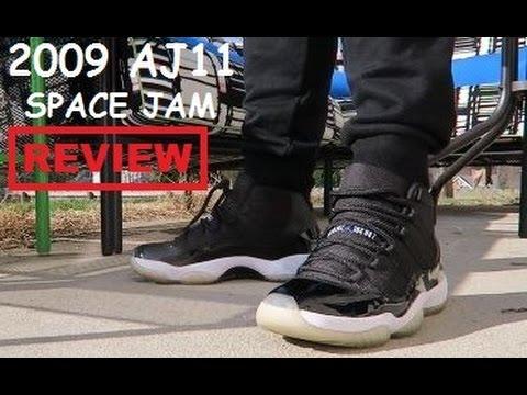 d1c6c85036a 2009 Air Jordan 11 XI Space Jam Sneaker Review On Feet - YouTube
