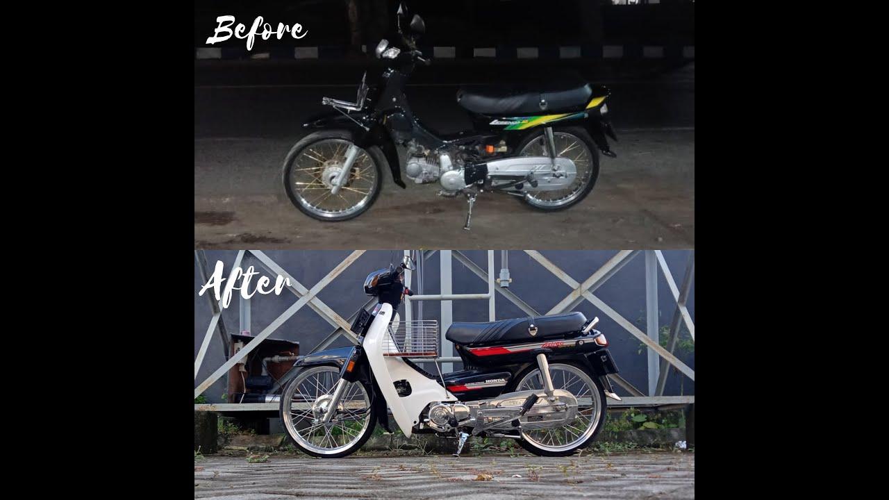 Proses Restorasi Honda Astrea Legenda 2 Ke Astrea Grand Bulus