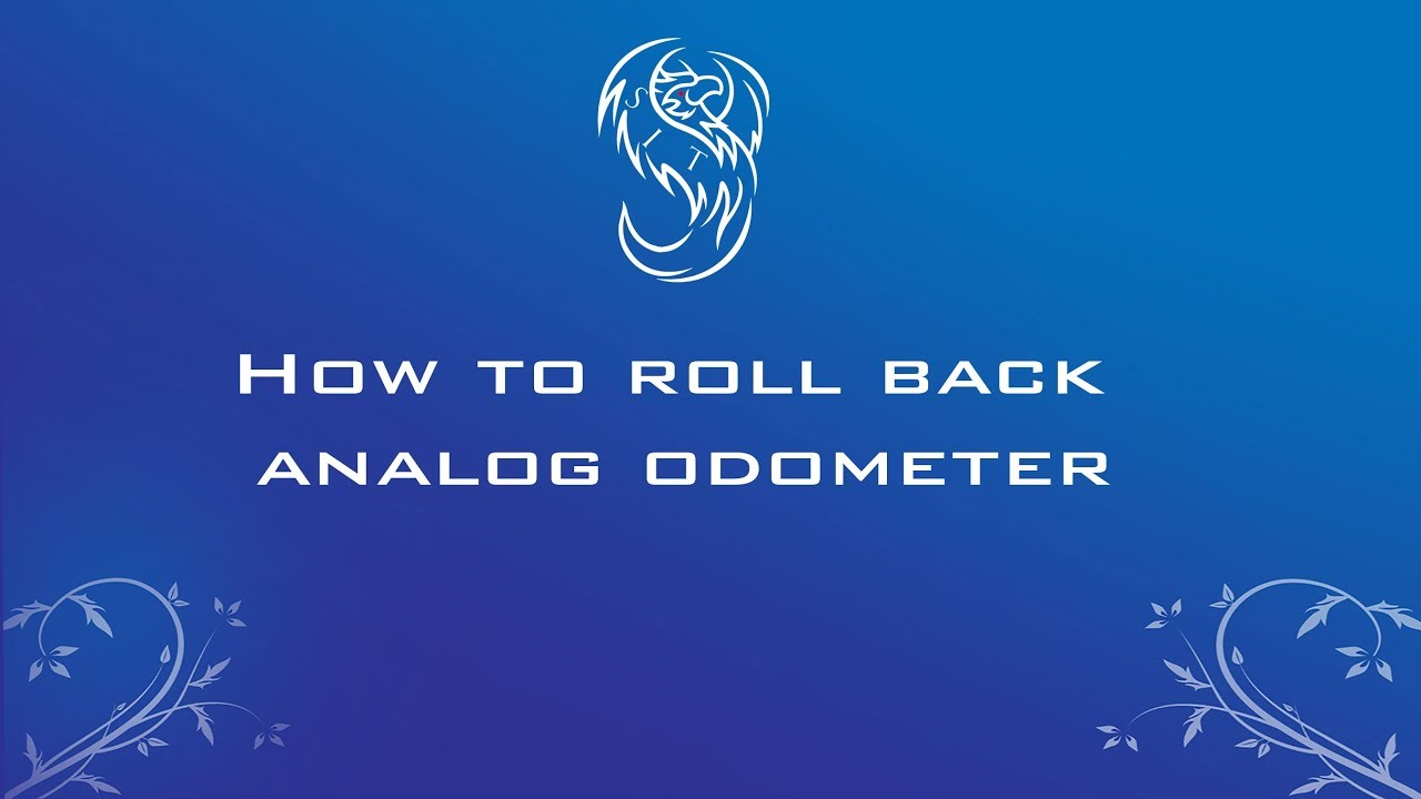 how to roll back an analog odometer (detailed video)