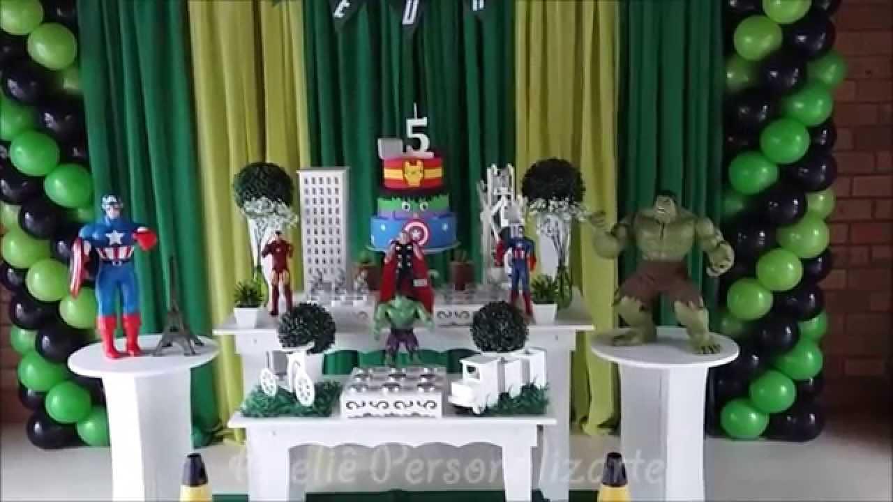Decoraç u00e3o de festa infantil Os Vingadores YouTube -> Decoração De Festa Os Vingadores