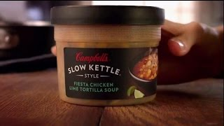 Tv Spot - Campbell's Soup - Slow Kettle Style Fiesta Chicken Lime Tortilla Soup - 33 New Soups