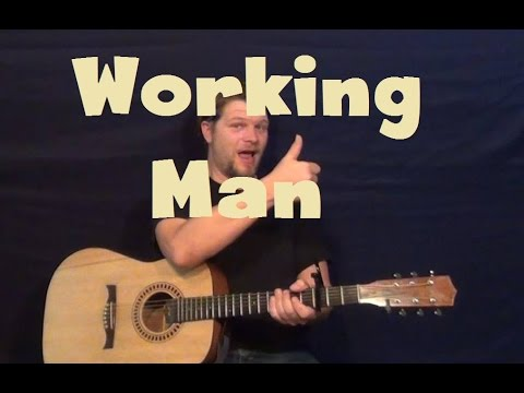 Working Man (Imagine Dragons) Easy Guitar Lesson How To Play Tutorial