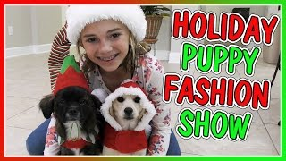 HOLIDAY PUPPY FASHION SHOW | WINTER HAUL | We Are The Davises
