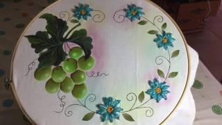 Pintura En Tela Uvas Verdes Terminadas