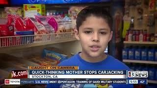 Mother stops carjacker