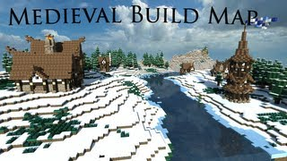 minecraft map medieval town build