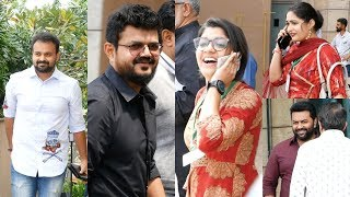 Celebrities Spoted At Amma General Body Meeting 2018 , Kunchacko Boban , Nadrisha , Indrajith