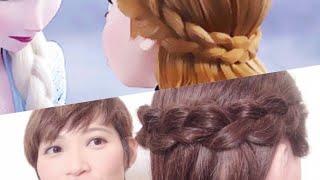《Stacey Cheng》 迪士尼冰雪奇緣2 安娜公主的髮型 Disney Frozen 2 Princess Anna's hairstyle Tutorial