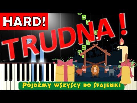 🎹 Pójdźmy wszyscy do stajenki - Piano Tutorial (TRUDNA! wersja) 🎹