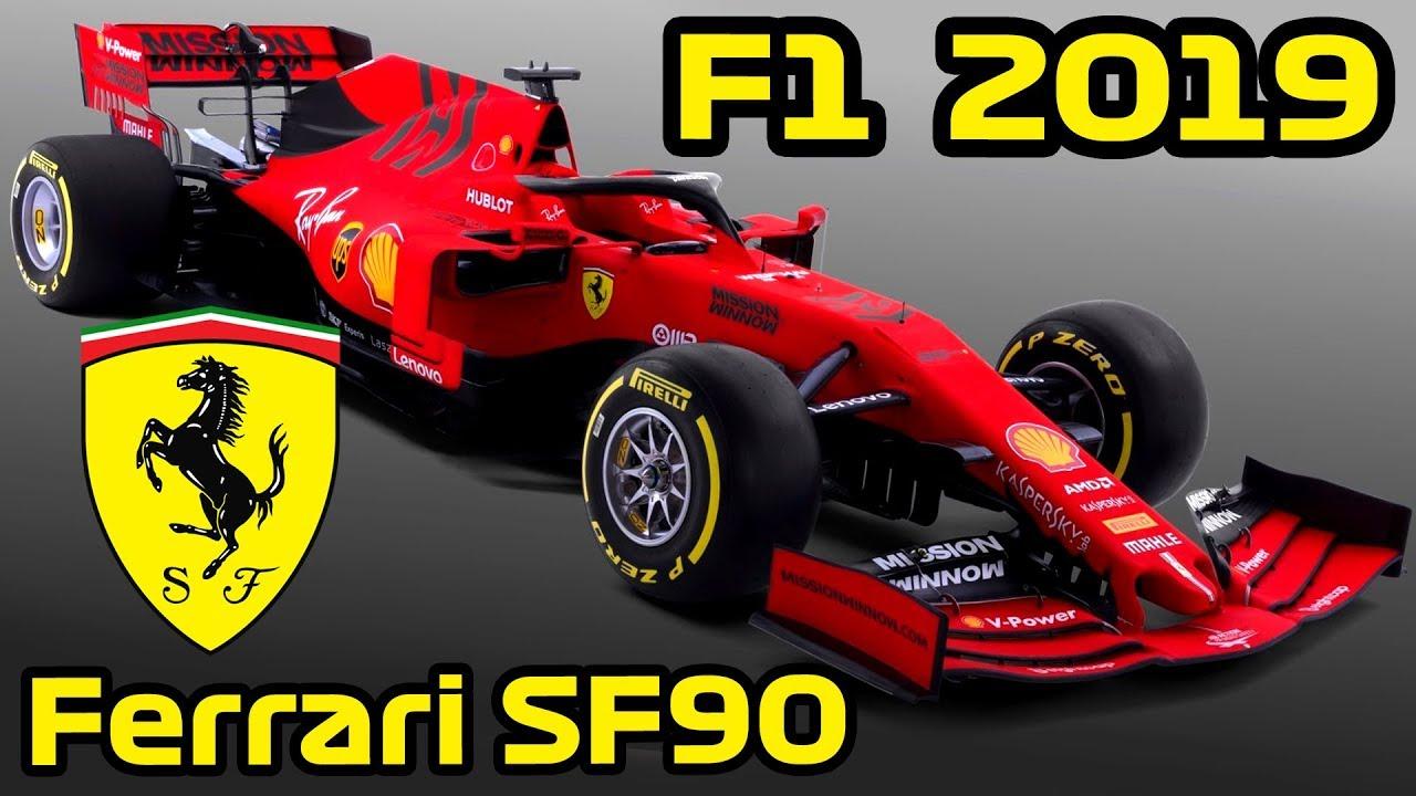 F1 Ferrari Sf90 Analysis Lets Talk F1 2019 F1 Ferrari 2019 Car Youtube