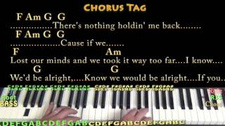 There's Nothing Holdin' Me Back (Shawn Mendes) Piano Cover Lesson in Am with Chords/Lyrics