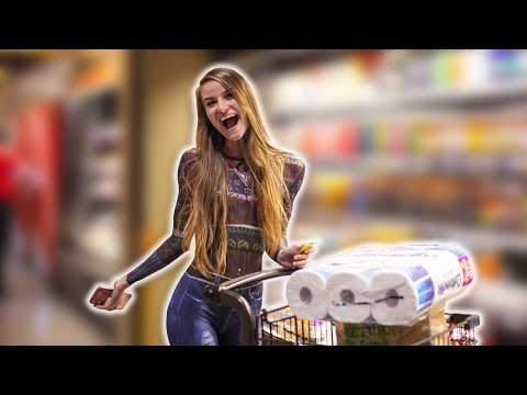 Girl Goes GROCERY SHOPPING w/ NO CLOTHES | Does Anyone Notice?! from YouTube · Duration:  1 minutes 58 seconds