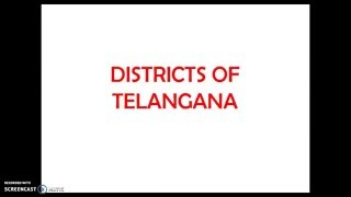 Telangana All Districts Names