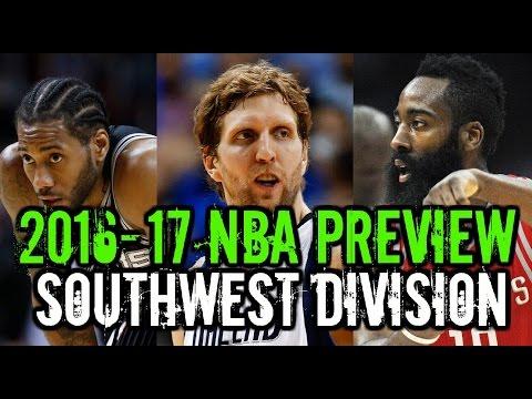 2016-17 NBA Season Preview: Southwest Division: Grizzlies Spurs Mavericks Rockets Pelicans