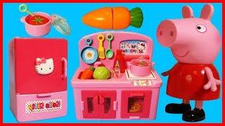 佩佩豬粉紅豬小妹用凱蒂貓 Hello Kitty 廚房給大家做壽司了