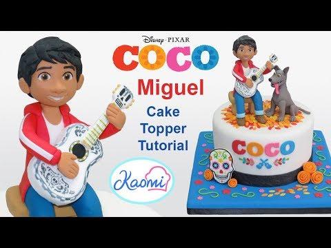 Coco Cake Topper: Miguel / Cómo hacer a Miguel (Coco Disney Pixar)
