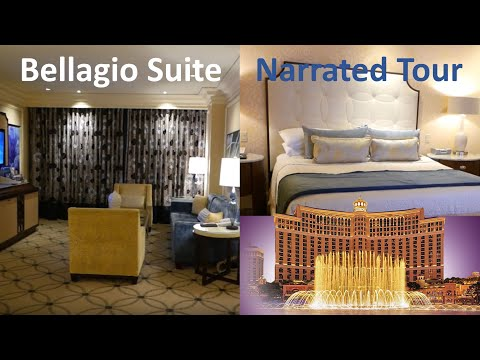 Bellagio Suite Review, Room Tour, Foor 31, Three Bathrooms, Whirlpool Bath, Steam Shower, Hotel