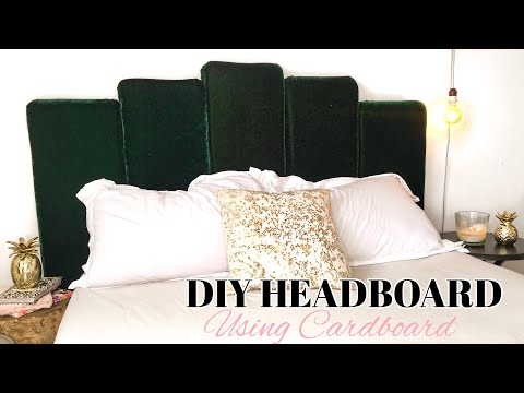 DIY HEADBOARD USING CARDBOARD    MANDY MOORE INSPIRED HEADBOARD // ROOM DECOR    MSS WINNIE