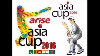 Asia Cup 2016 || Match Schedule and Point table || Latest