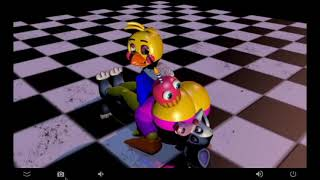 toy chica fart on mangle
