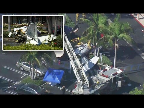 5 Dead After Plane Crashes into California Parking Lot