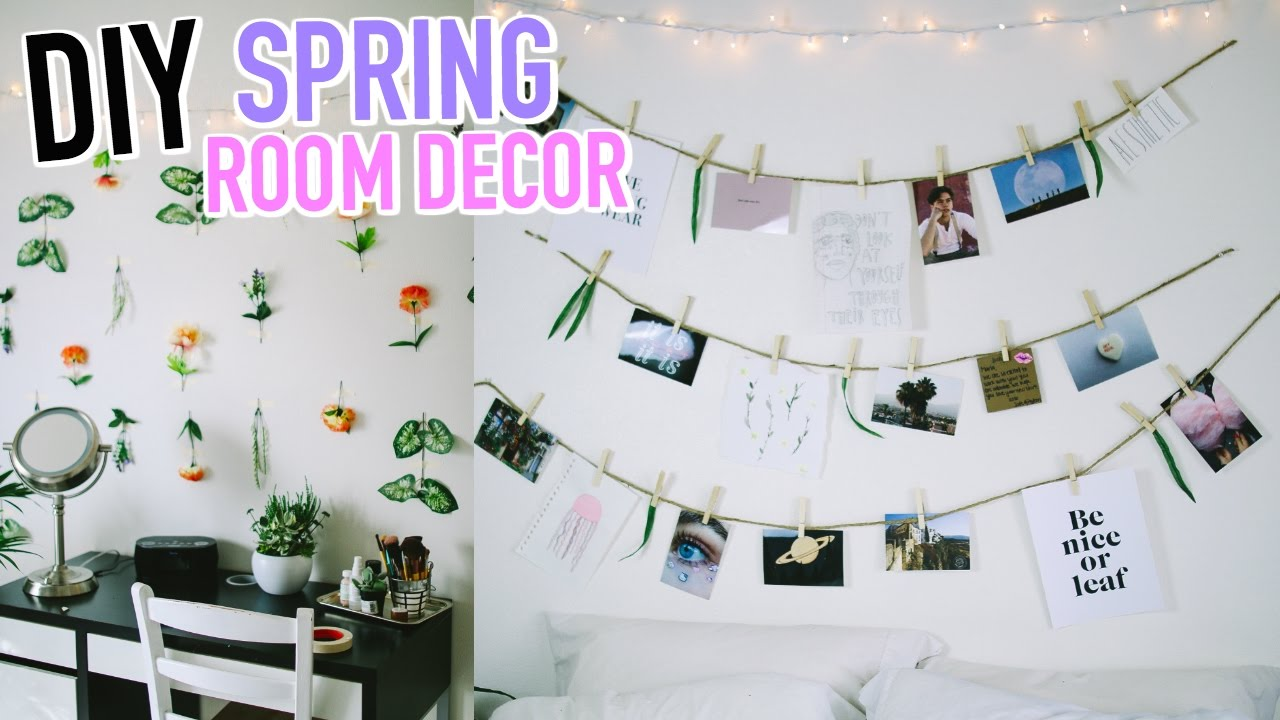 DIY Spring Room Decor 2017! - YouTube