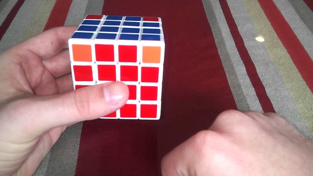 Rubik's cube 4x4 corner parity without complicated algorithms