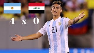 Argentina 4 x 0 Iraque Gols & Melhores Momentos - Amistoso Internacional 11/10/2018