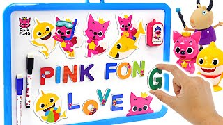 Baby Shark & PinkFong! Let's play with PinkFong Magnet on blackboard! | PinkyPopTOY