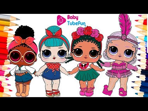 Colouring Lol Surprise Dolls Colouring Pages Splash Queen The
