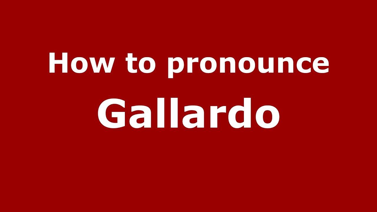 How do you pronounce lamborghini gallardo
