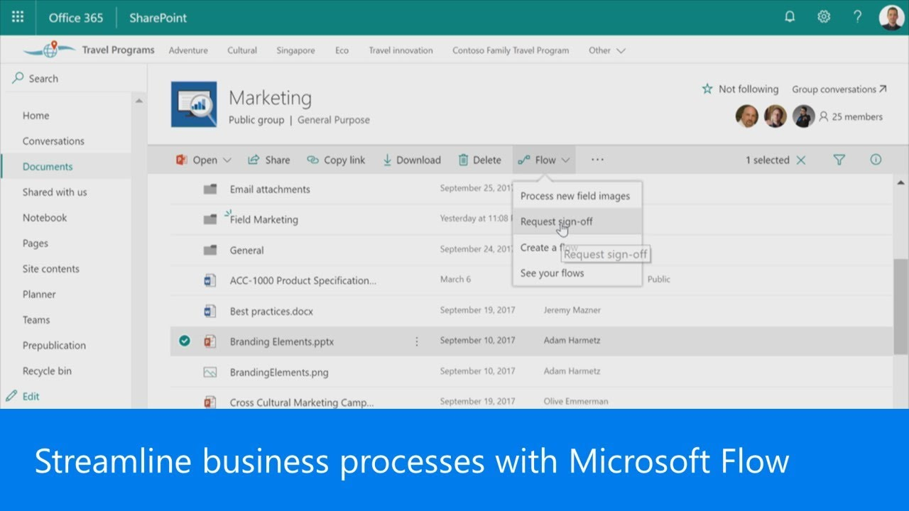 Streamline business processes with Microsoft Flow