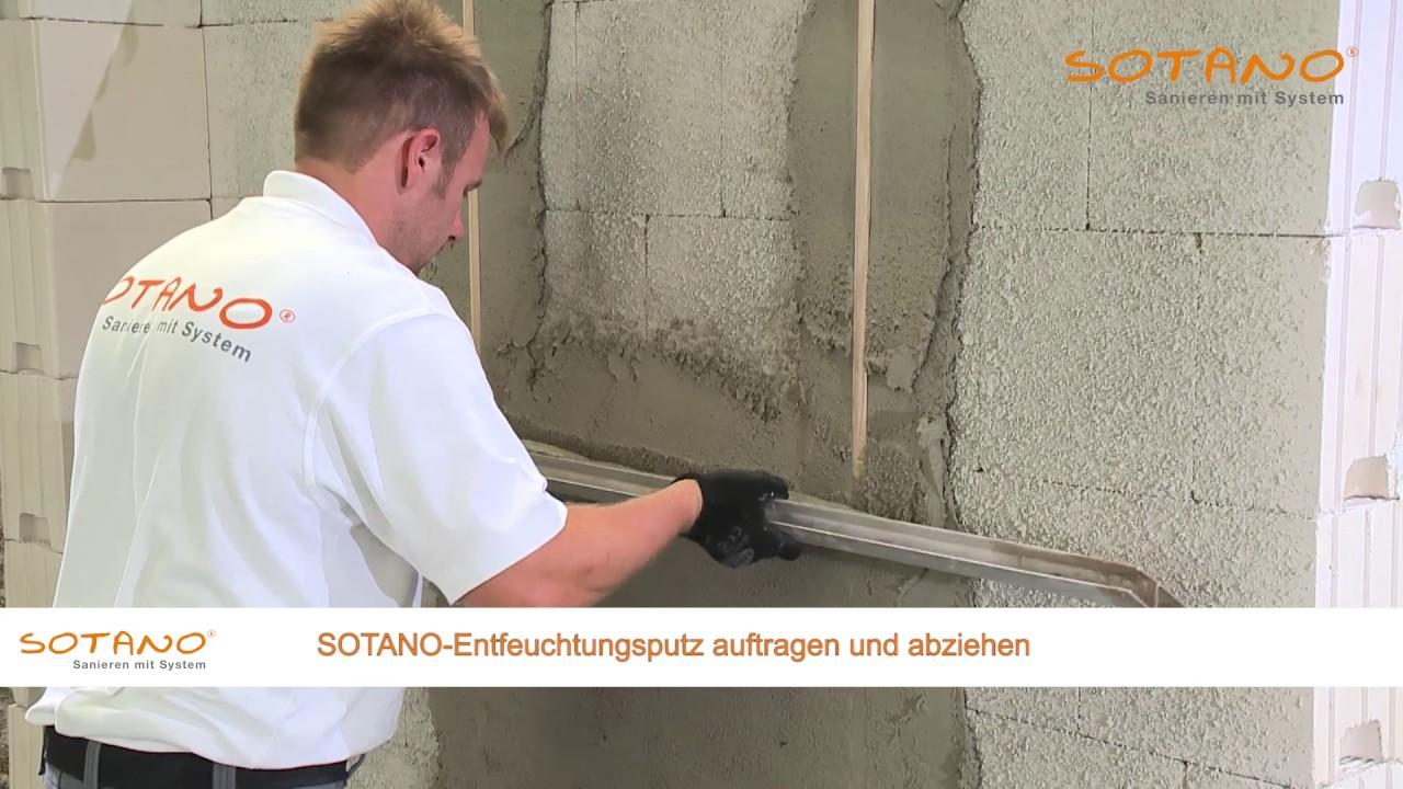 Nasse Wande Wandflachen Trocknen Mit Sotano Entfeuchtungsputz